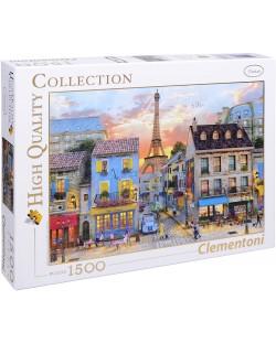 Пъзел Clementoni от 1500 части - Улиците на Париж, Доминик Дейвисън
