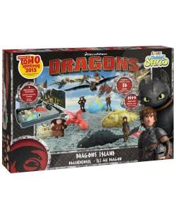 Игрален комплект с кинетичен пясък Craze Magic Sand Dragons Island - Арена с дракони и фигурки