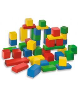 Дървен комплект Eichhorn - Цветни блокчета