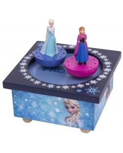 Дървена музикална кутия Trousselier - Анна и Елза от Замръзналото кралство