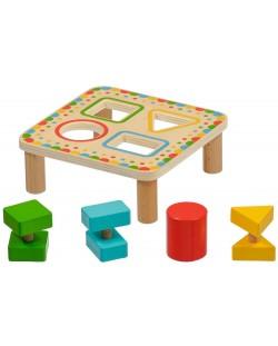 Дървена играчка Lucy&Leo - Сортер за форми