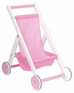 Количка за кукли Lelin - Розова, лятна