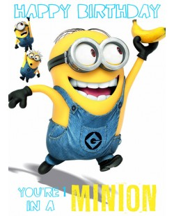 Поздравителна картичка Danilo - Despicable Me: Minion 1 In A Minion Birthday