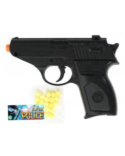 Детска играчка Airsoft - Механичен пистолет, 13 cm