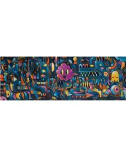 Панорамен пъзел Djeco от 500 части - Стена от чудовища