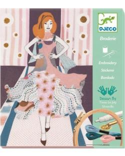 Детски комплект за бродиране Djeco - Седмица на модата
