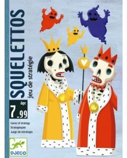 Детска игра с карти Djeco - Скелети