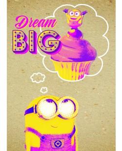 Поздравителна картичка Danilo - Crafty Minions: Dream Big