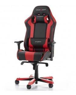 Гейминг стол DXRacer OH/KS06/NR - серия King, черен/червен (разопакован)