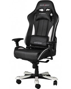 Геймърски стол DXRacer King - черен/бял (OH/KF57/NW)