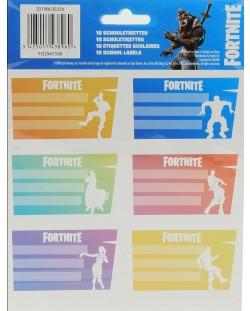 Ученически етикети Fortnite Dances - 18 броя
