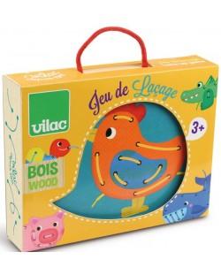 Играчка за нанизване на животни Vilac