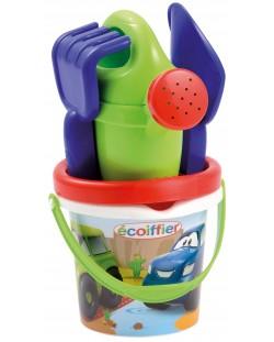 Комплект играчки за пясък Ecoiffier - Кофичка с инструменти