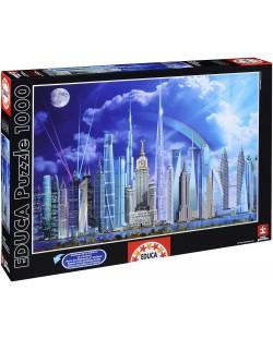 Пъзел Educa от 1000 части - Най-високите сгради в света, Гари Уолтън