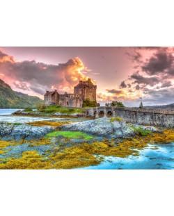 Пъзел Bluebird от 3000 части - Замъкът Елън Долан, Шотландия