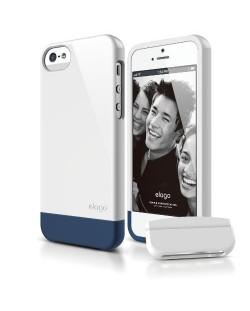 Калъф Elago S5 Glide за iPhone 5, Iphone 5s - бял-гланц