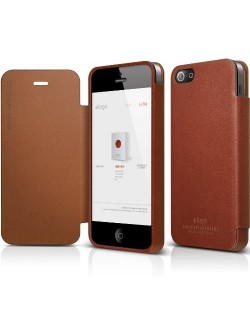 Elago S5 Leather Flip Case за iPhone 5 -  Limited Edition
