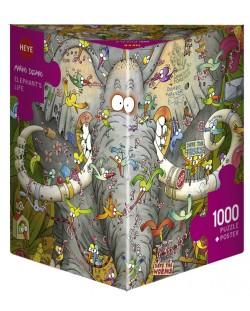 Пъзел Heye от 1000 части - Животът на слона, Марино Дегано