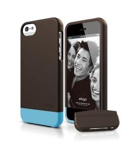 Elago S5 Glide Case за iPhone 5 - кафяв