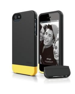 Elago S5 Glide Case за iPhone 5 - черен-мат