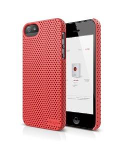 Калъф Elago S5 Breathe за iPhone 5, Iphone 5s -  светлочервен
