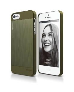 Elago S5 Outfit Matrix Aluminum + HD Clear Film за iPhone 5 -  зелен
