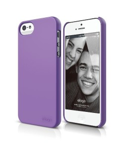 Elago S5 Slim Fit 2 Case + HD Clear Film за iPhone 5 -  лилав-мат