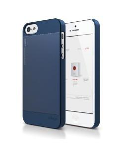 Elago S5 Outfit Aluminum за iPhone 5 -  тъмносин