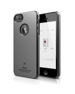 Elago S5 Slim Fit Case за iPhone 5 - тъмносив-гланц
