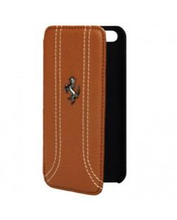 Ferrari FF Series Book за iPhone 5 - Flip-Case - кафяв