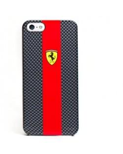 Ferrari Carbon Effect за iPhone 5 -  червено-черен