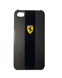 Ferrari Carbon Effect за iPhone 5 -  черен