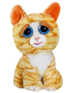 Плашеща плюшена играчка WMC Toys Feisty Pets - Оранжева котка