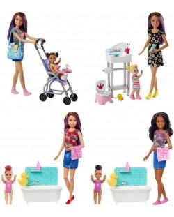 Игрален комплект Mattel Barbie - Детегледачка, асортимент
