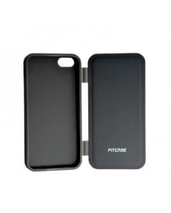 FitCase TPU Flip Case  силиконов кейс тип портфейл за iPhone 5 (черен)