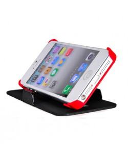FitCase Stand Faceplate за iPhone 5 - черен-червен