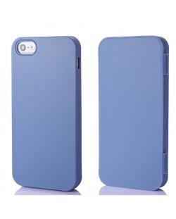 FitCase TPU Flip Case  силиконов кейс тип портфейл за iPhone 5 (син)
