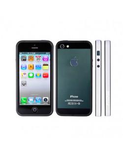 FitCase Bumper BPCIP5-05 за iPhone 5 -  бяло-черен