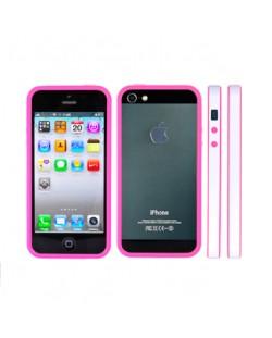 FitCase Bumper BPCIP5-05 за iPhone 5 -  розово-бял
