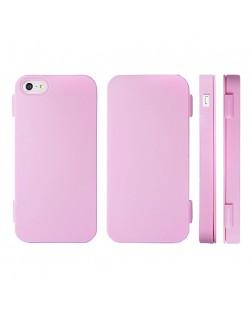 FitCase TPU Flip Case  силиконов кейс тип портфейл за iPhone 5 (розов)