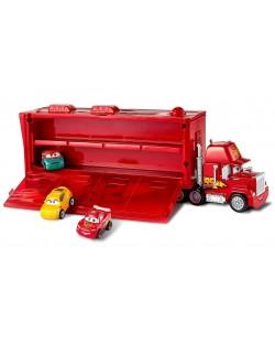 Игрален комплект Mattel Cars - Камион Транспортьор Мак