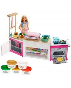 Игрален комплект Mattel Barbie - Кухнята на Барби, със звук и светлини