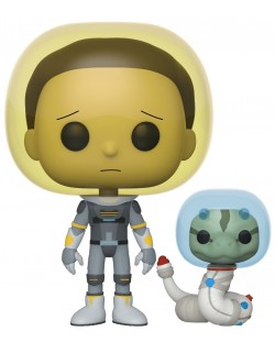 Фигура Funko Pop! Animation: Rick & Morty - Space Suit Morty with Snake, #690