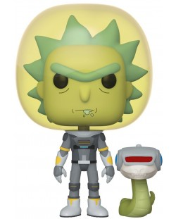 Фигура Funko Pop! Animation: Rick & Morty - Space Suit Rick with Snake, #689