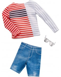 Дрехи за кукла Mattel Barbie - Блуза с къси панталони и очила, за Кен