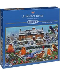 Пъзел Gibsons от 1000 части - Зимна песен, Грег Джордано
