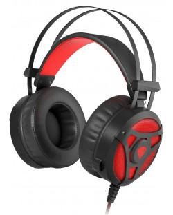 Гейминг слушалки Genesis Neon 360 - черни/червени