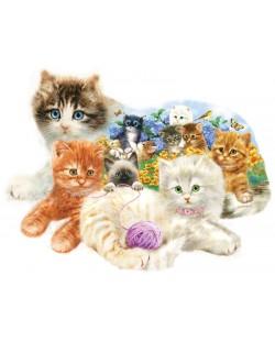 Пъзел SunsOut от 1000 части - Малки котенца, Джордано Студиос