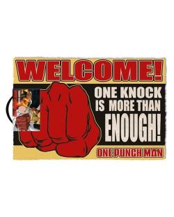 Изтривалка за врата Pyramid - One Punch Man (One Knock), 60 x 40 cm