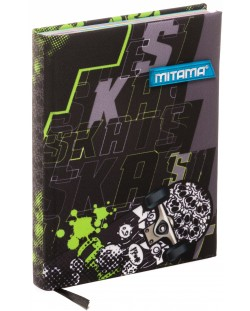 Тефтер Mitama А5 - Skate, с текстилни корици